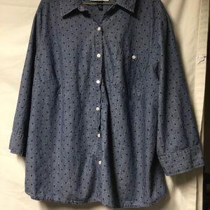 Karen Scott Buttoned Shirt Size 3x